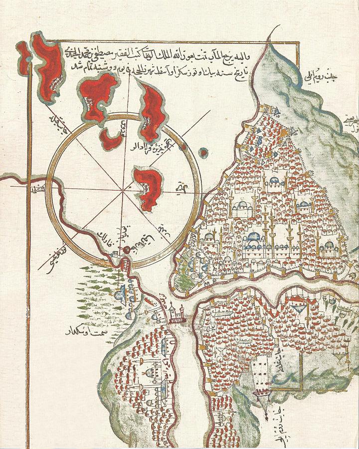 Eski İstanbul Haritası Mustafa bin Mehmed Cündî - 1629