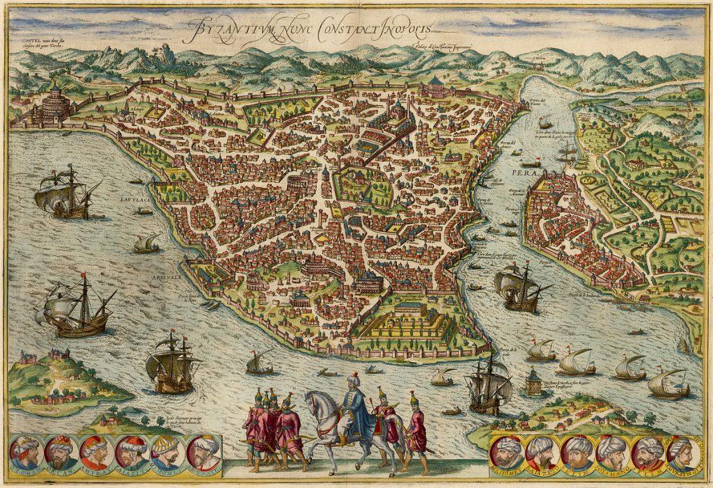 Eski İstanbul Haritası Jan Jansson - 1660